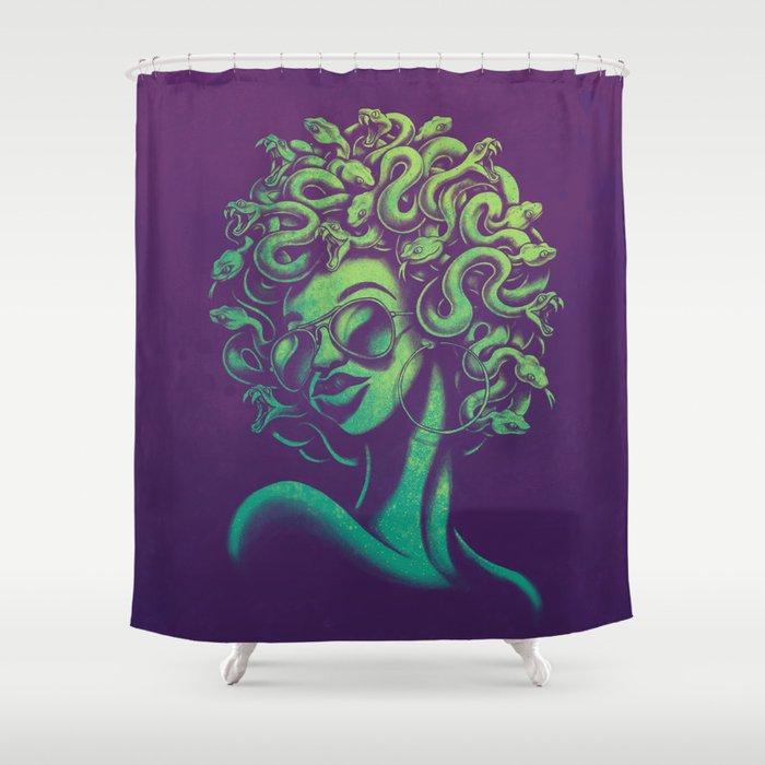 Funky Medusa Shower Curtain