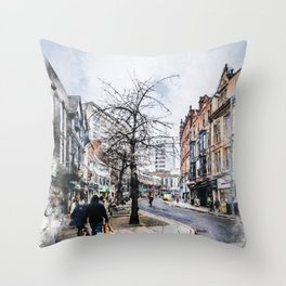 Nottingham art #nottingham Throw Pillow