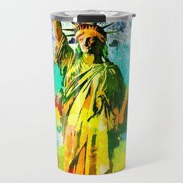 Statue of Liberty Grunge Travel Mug