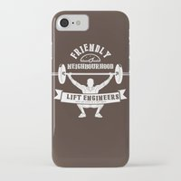 the neighbourhood iPhone & iPod Cases featuring Friendly Neighbourhood Lift Engineers by Daniel Thompson