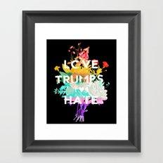 Love Trumps Hate Framed Art Print