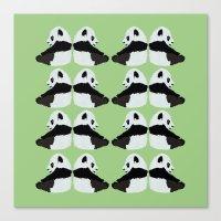 pandas Canvas Prints featuring Pandas by yourachingart