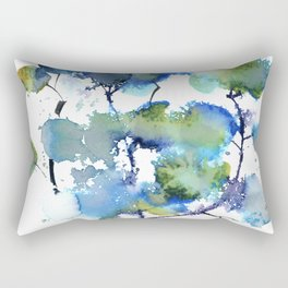 Leaves in blue and green Rectangular Pillow