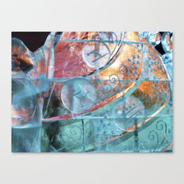 Olympic Ice-sculpting in Kostroma Canvas Print