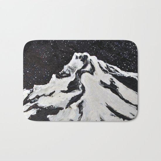 Mount Hood and Stars Bath Mat