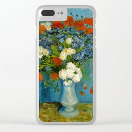 Vincent Van Gogh Vase With Cornflowers And Poppies Clear iPhone Case