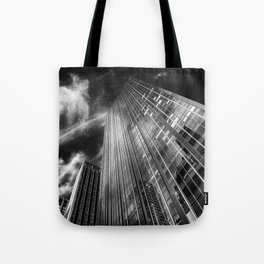 Towers and clouds Tote Bag