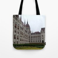 budapest Tote Bags featuring Budapest  by Katarina
