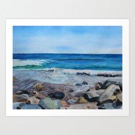 Hampton Beach Painting Art Print