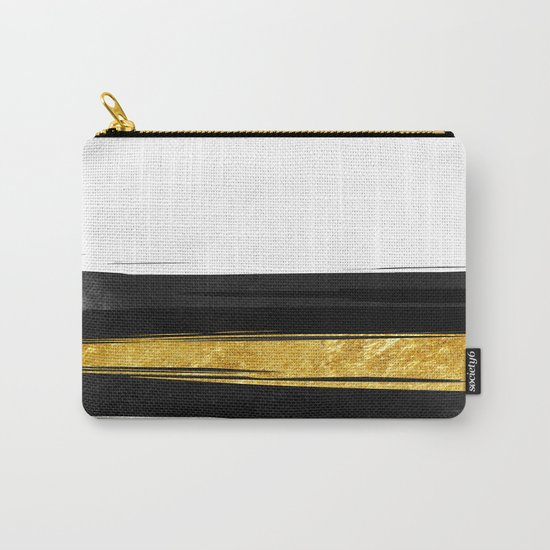 Gold and Black Stripes Carry-All Pouch