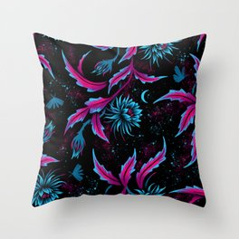 Queen of the Night - Black Purple Throw Pillow