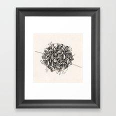The Knitting Framed Art Print