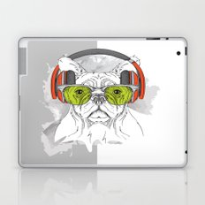 Dog with headphones Laptop & iPad Skin