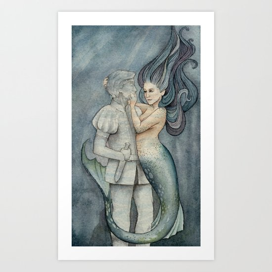 The Mermaid and her Prince Art Print