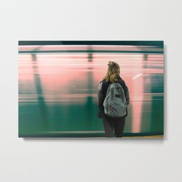 Subway Day Dreams Metal Print
