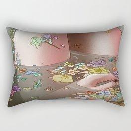 Flower Bath 3 Rectangular Pillow