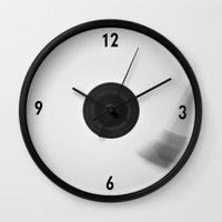 vinyl Wall Clocks featuring Vinyl by Dan Vann