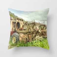 The abandoned Combine Throw Pillow