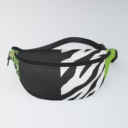 Animal Print, Zebra Stripes, Leopard Spots - Green Fanny Pack