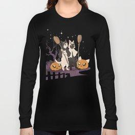halloween cats Long Sleeve T-shirt