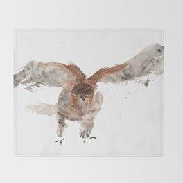Hawk on the Hunt Throw Blanket