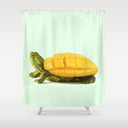MANGO TURTLE Shower Curtain