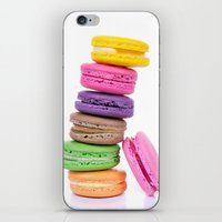macaroons iPhone & iPod Skins featuring MacaroonS Colorful by WhimsyRomance&Fun