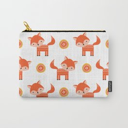 Orange Fox Carry-All Pouch