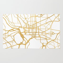 WASHINGTON D.C. DISTRICT OF COLUMBIA CITY STREET MAP ART Rug