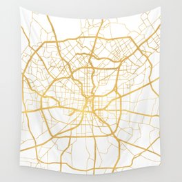 SAN ANTONIO TEXAS CITY STREET MAP ART Wall Tapestry