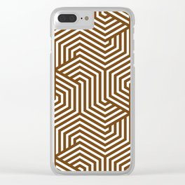 Sepia - brown - Minimal Vector Seamless Pattern Clear iPhone Case