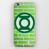 green lantern iPhone & iPod Skins featuring Green Lantern by DeBUM