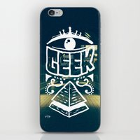 geek iPhone & iPod Skins featuring GEEK by YTRKMR