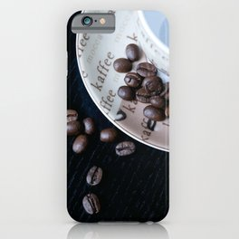 Coffee Cup with coffee Beans iPhone Case