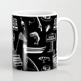 Gone Fishing // Black Coffee Mug