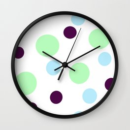 colorful dots, retro pattern Wall Clock
