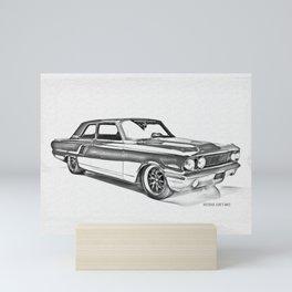 1964 F0RD Fairlane Side View Mini Art Print