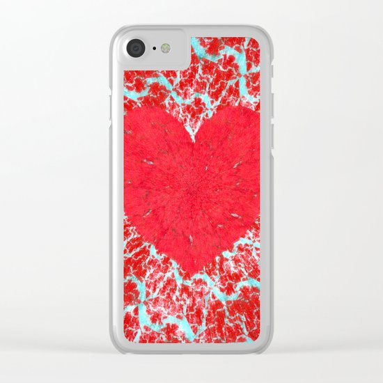 Frosty heart Clear iPhone Case