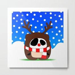 Panda Plopz (Reindeer) Metal Print