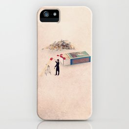 The matchstick painter iPhone Case