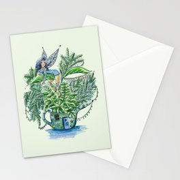 Blue Fairy On a Teapot Stationery Cards