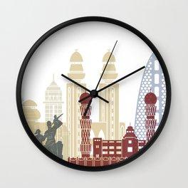 Dakar skyline poster Wall Clock