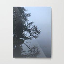 Adirondack Foggy Reflection Metal Print