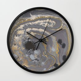 Fluid Gold Concrete Wall Clock