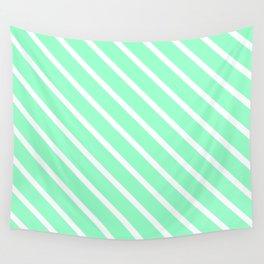 Mint Julep #2 Diagonal Stripes Wall Tapestry
