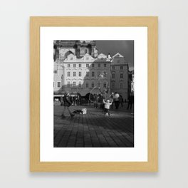 Reaching for the Stars by the Astronomical Clock Framed Art Print