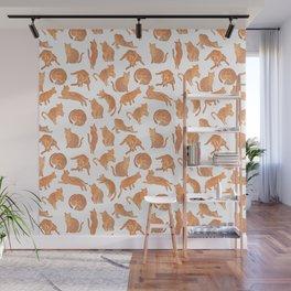 Cat Poses Wall Mural