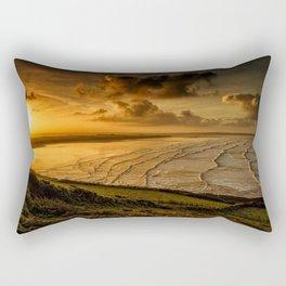 Surfer Sunrise Rectangular Pillow