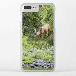 Young Doe Among the Flora, No. 2 Clear iPhone Case