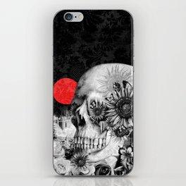 Fire in the dark, nature skull iPhone Skin
